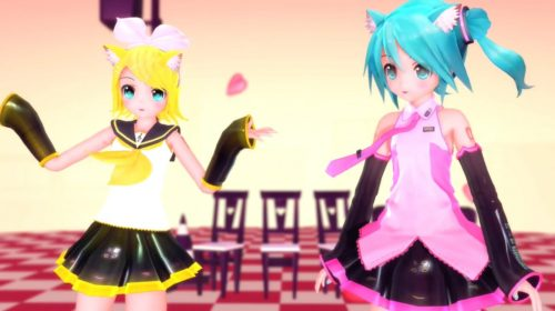 【MMD】Drop Pop Candy【三妈式猫耳初音 镜音】